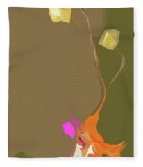 Ikebana Humoresque Fleece Blanket