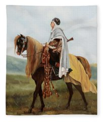 Il Cavaliere Giallo Fleece Blanket