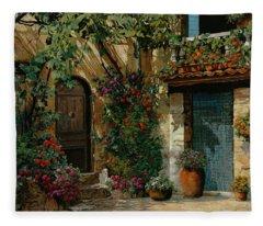 Il Giardino Francese Fleece Blanket