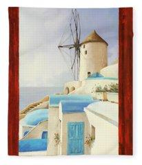 Il Mulino Oltre La Finestra Fleece Blanket