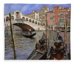 Rialto Bridge Fleece Blankets