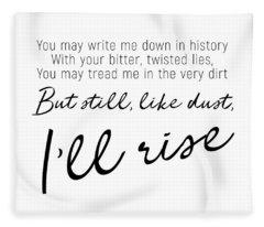 I'll Rise #minimalism Fleece Blanket