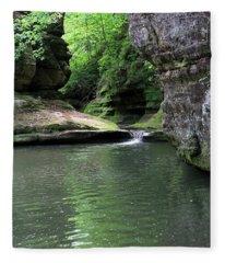Illinois Canyon Summer Fleece Blanket