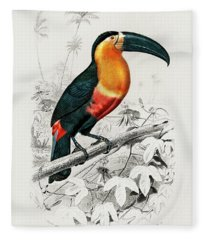 Illustrated Toucan - Ramphastos Fleece Blanket