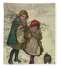 Illustration From Christmas Tree Fairy Fleece Blanket