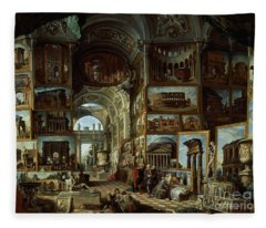 Imaginary Gallery Of Views Of Ancient Rome Fleece Blanket