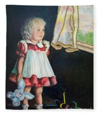 Ingenuous   Imagination Girl.                From The Attitude Girls  Fleece Blanket