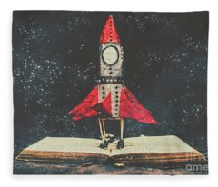 Imagination Is A Space Of Learning Fun Fleece Blanket