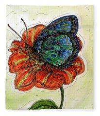Imagine Butterflies A Fleece Blanket
