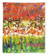 Imagine Happiness Fleece Blanket