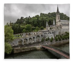 Immaculate Conception And Rosary Basilica Fleece Blanket