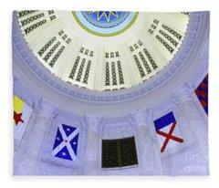 Immagration Flags On Rotundra  Fleece Blanket
