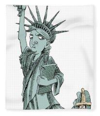 Immigration And Liberty Fleece Blanket