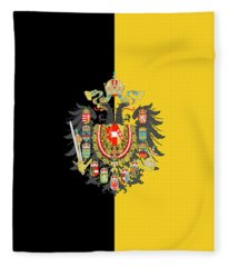 Habsburg Flag With Imperial Coat Of Arms 2 Fleece Blanket