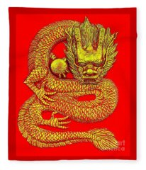 Imperial Dragon Of China Fleece Blanket