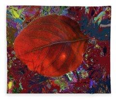 Imposition Of Leaf At The Season Fleece Blanket