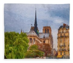 Impression, Paris Fleece Blanket