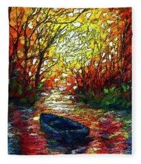 Impression Sunset Print From Olena Art Original Oil Painting #pixels   Fleece Blanket