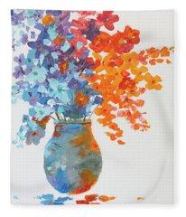 Impressionist Flowers 8 Fleece Blanket