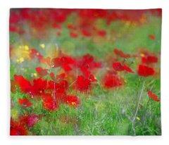 Impressionistic Blossom Near Shderot Fleece Blanket