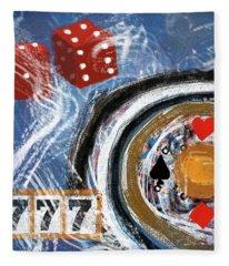 Impressionist Casino Fleece Blanket