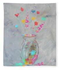 Impressionistic Flowers 6 Fleece Blanket