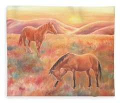 Impressions At Sunset Fleece Blanket