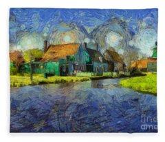 Impressions Of Zaanse Schans Fleece Blanket