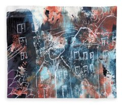In A Northern Town- Abstract Art By Linda Woods Fleece Blanket