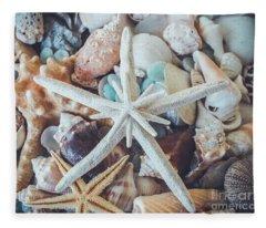 In A Sea Of Shells-  Fleece Blanket