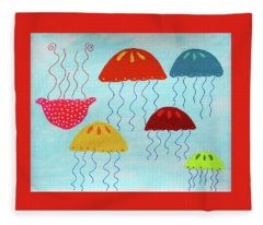 In A Sea Of Jellyfish It's Okay To Be Different Fleece Blanket