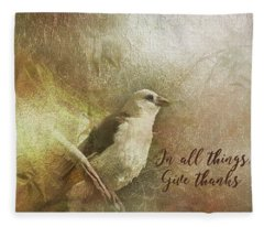 In All Things Give Thanks Fleece Blanket