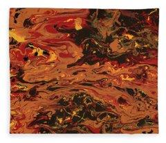 In Flames Fleece Blanket