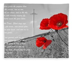 In Flanders Fields Fleece Blanket