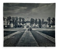 In Front Of Monastery Fleece Blanket