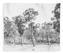 In Gusts Of A Snowstorm Fleece Blanket