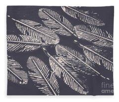 In Metal Nests Fleece Blanket