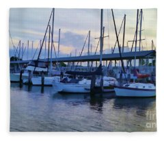 In My Dreams Sailboats Fleece Blanket