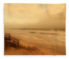 In My Dreams The Ocean Sings - Jersey Shore Fleece Blanket