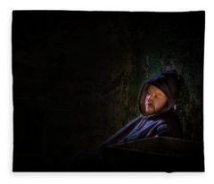 In My Solitude Fleece Blanket