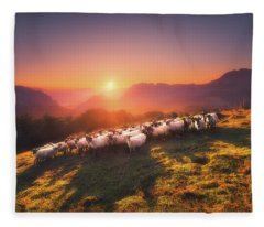 In Saibi With Companionsheep Fleece Blanket