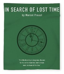 In Search Of Lost Time Greatest Books Ever Series 007 Fleece Blanket