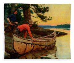 In Silent Places Fleece Blanket