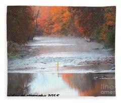 In The Early Morning Mist Fleece Blanket