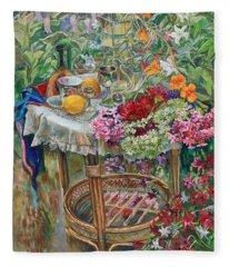 In The Garden Fleece Blanket