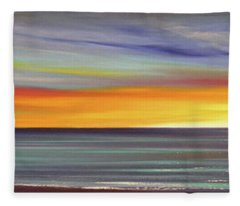 In The Moment Panoramic Sunset Fleece Blanket
