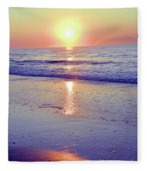 In The Morning Light Everything Is Alright Fleece Blanket