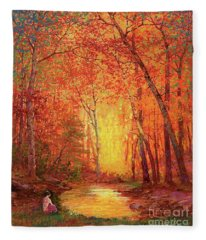 In The Presence Of Light Meditation Fleece Blanket