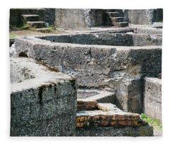 In The Ruins 6 Fleece Blanket