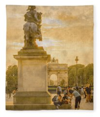 Paris, France - In The Shadow Of Glory Fleece Blanket
